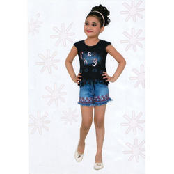 Casual Wear Denim Girls Kids Hot Shorts