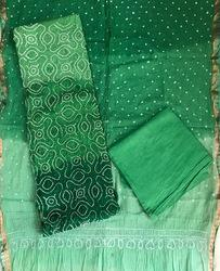 Green Stylish Ladies Suit Material