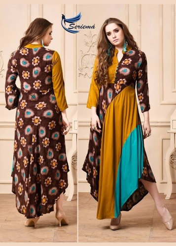 3/4th Sleeve Ladies Fashionable Stitched Kurti
