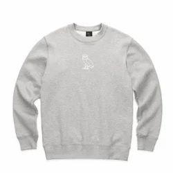 Triple Dot Grey Sweat Shirts Spun Fleece