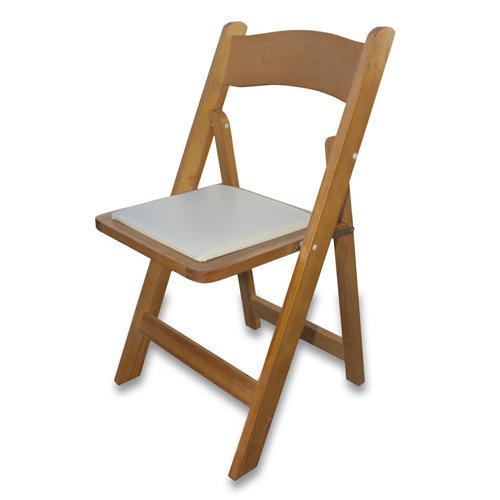 Yellow Wooden Folding Chair, Dimension: 475 x 430 x 790 mm