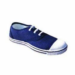 Blue Canvas Tennis Shoes