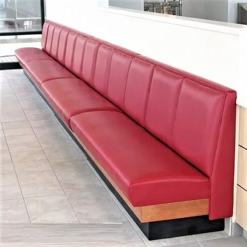 3 Person Each 45 Cm Restaurant Long Booth Sofa, Size: Three Searter Each