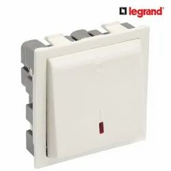 White Legrand Britzy 20A 2 Module Double Pole Electrical Switch