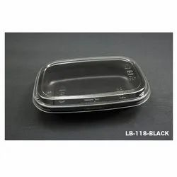 LB-118-Black Plastic Container