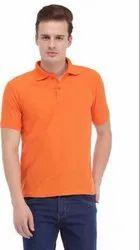 Orange Polo Neck T Shirt