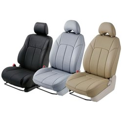 Front & Back Plain Leather Car Seat Cover