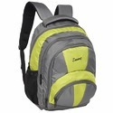 Yellow and Grey Free Size Polyester Backpack