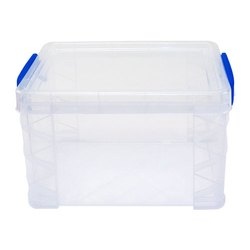 Plain Rectangular Heavy Duty Plastic Storage Box, Capacity: 700g-1 Kg