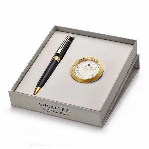 Total Smart Black Sheaffer Pen & Clock Gift Set for Gifting, | ID:  21204129612