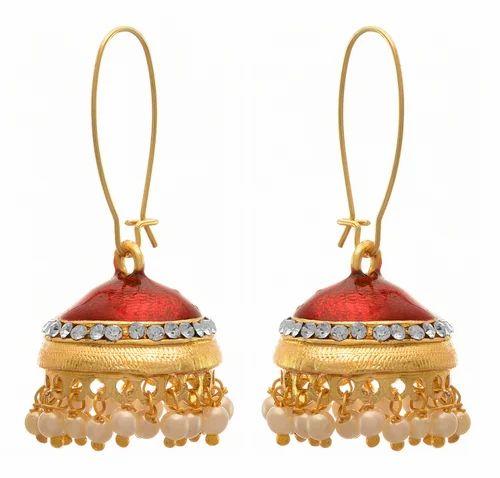 da59c4db0d JFL One Gram Gold Plated Designer Jhumka - JFL-Traditional Ethnic Fusion Gold  Plated Pearl Jhumka Manufacturer from Mumbai