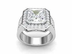 925 Sterling Silver Cubic Zircon Wedding Ring