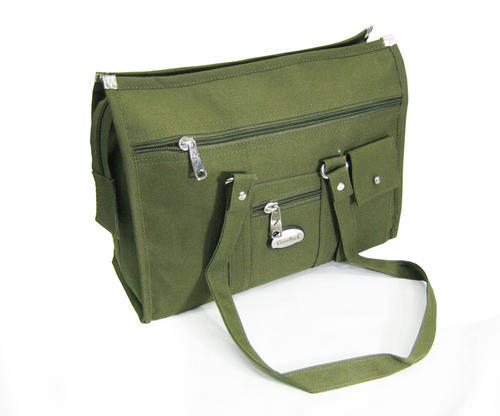 Moss Green Nylon Womens Office Bag Rs