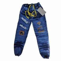 Blue Casual Wear Kids Denim Jeans