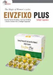 Omega 3 Fatty Acid 90mg  Cod Liver Oil 300mg   Evening Primrose Oil 300mg Vitamin E Acetate 10mg