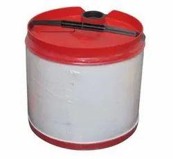 Round White 12 Litre HDPE Oil Drum