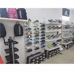 Acrylic White Showroom Shoes Display Rack, for Supermarket,Showroom and Malls