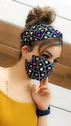 Girls Cotton mask with Head Band