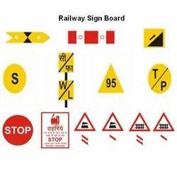 Reflective Railway Sign Board