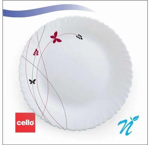 White Ceramic Dinner Set 29 Pcs Cello