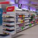 Supermarket Corner Rack