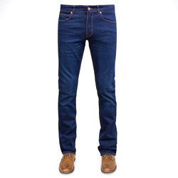 Plain Casual Wear Blue Denim Jeans