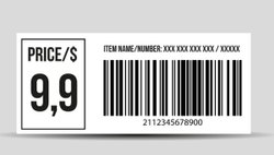 Barcode Tag Rolls (Pre Printed)