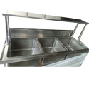 Triple Bowl Stainless Steel Serving Counter