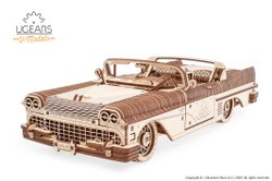 Dream Cabriolet VM-05 Mechanical DIY Wooden Car Puzzle
