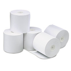 White Thermal Paper Roll, Thickness: 55 GSM