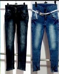 Blue Cotton Denim Jeans