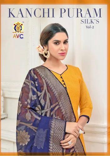 468794bae9 AVC Kanchipuram Silk Vol-2 Wholesale Silk Dress Material, रेशम ...