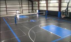 Rubber Sports Flooring Service, Minimum Area: 500 Sq Ft