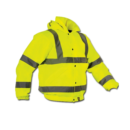 V4you Polyester and Cotton Polyester High Visibility Winter Jacket, Construction and Auto Racing