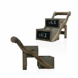 Brown Wooden Cart