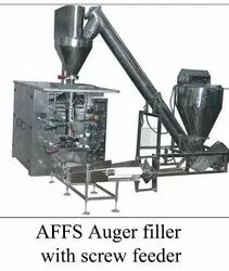 Automatic ors powder pouch packing machine.