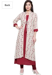 Rayon With Jacket  Kurti