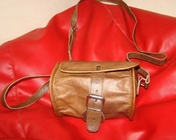 Genuine Leather Small Travel Bag