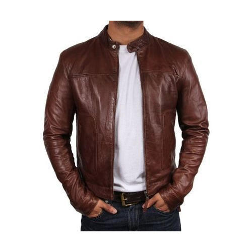 a6f27b1c6 Mens Brown Leather Jacket