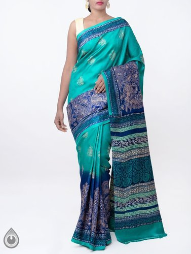3aada4f63e Pure Handloom Tussar Dupion Silk Saree With Embroidery Work at Rs ...