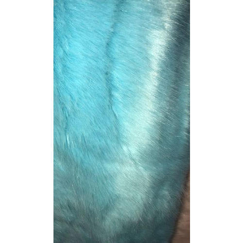 Blue Faux Fur Fabric