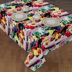 Eye Catching Digital Printed Restaurant Table Cloth