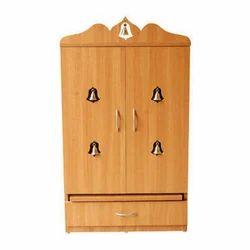 Brown PVC Pooja Cabinet