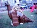 Frp Playground Dinosaur Slide