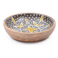 Wood Resin Enamel Bowl