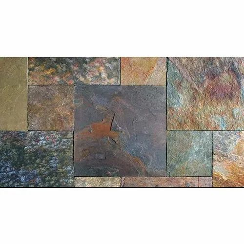 Life Time Venture Multikund Slate Stone, Thickness: 15-20 mm
