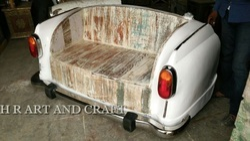 3 Seater Wooden Antique Sofa