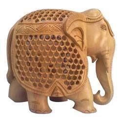 Designer Wooden Elephant Statue