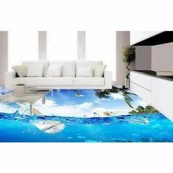 3D Epoxy Flooring Installation 3D Designer Epoxy Flooring, Residential Building, for Residential