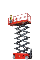 Self Propelled Scissor Lift - Diesel Engine